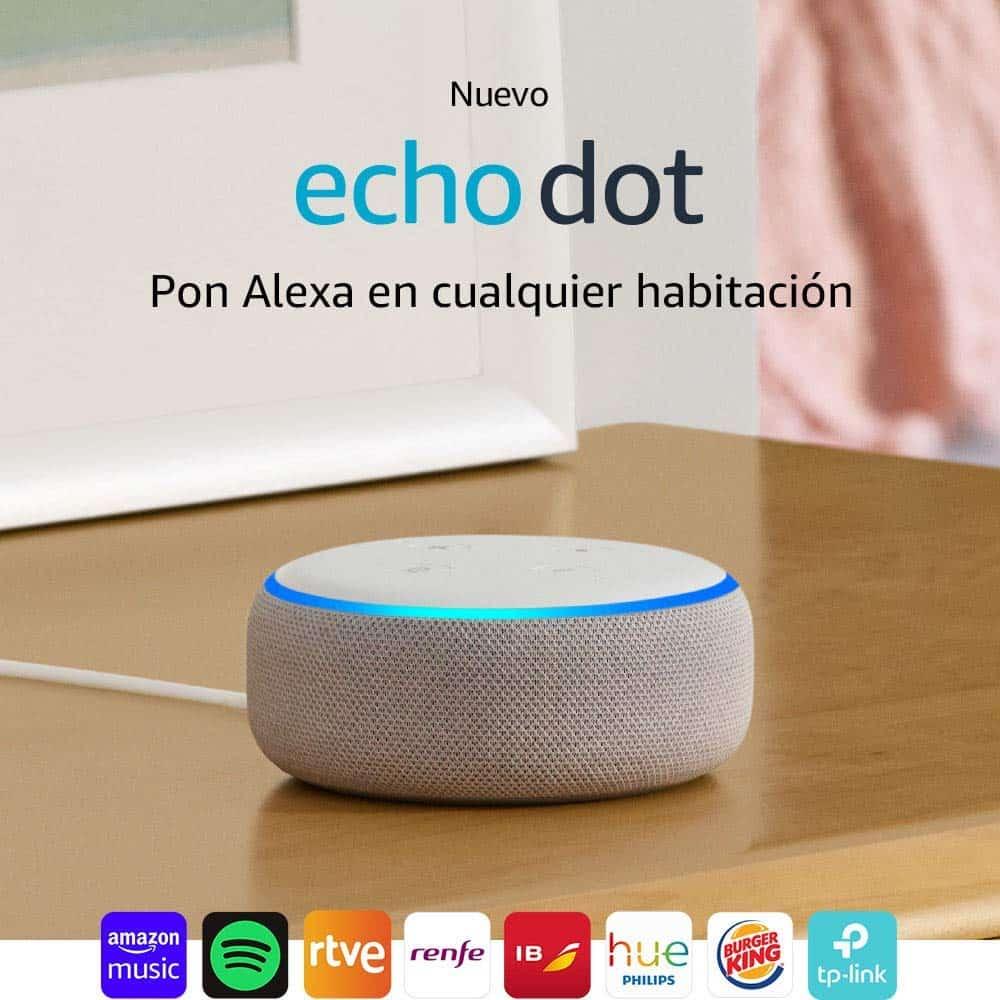 Echo Dot (3.ª generación) - Altavoz inteligente con Alexa, tela