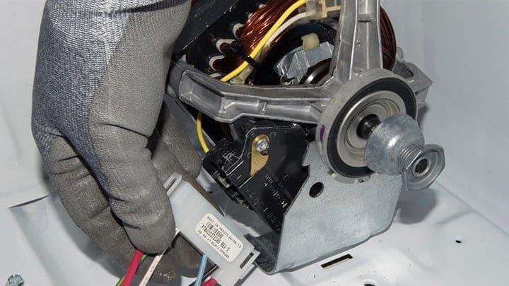Reparación del motor de la secadora