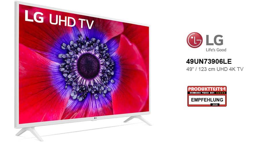 El televisor LG 49UN73906LE UHD 4K blanco en la prueba