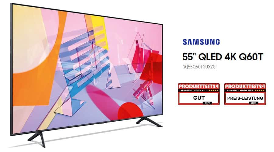 El televisor Samsung QLED 4K GQ55Q60T